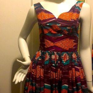 Elegant afirican print dress